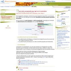 Une carte conceptuelle pour agir sur la motivation- Centre Académique Recherche- Développement, Innovation et Expérimentation
