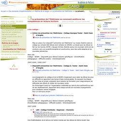La prévention de l'illettrisme ou comment améliorer les compétences en lecture/écriture - Page 2/3 - Centre Académique Recherche- Développement, Innovation et Expérimentation