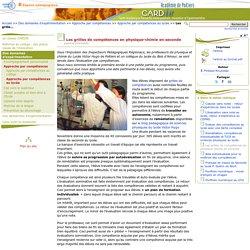 Les grilles de compétences en physique-chimie en seconde- Centre Académique Recherche- Développement, Innovation et Expérimentation