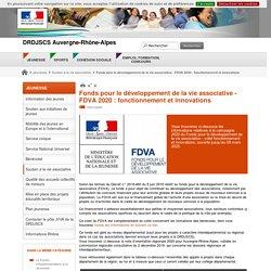 Fonds pour le développement de la vie associative - FDVA 2020 : fonctionnement et innovations - DRDJSCS Auvergne-Rhône-Alpes