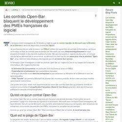 XWiki - Blog - Les contrats Open-Bar bloquent le développement des PMEs françaises du logiciel