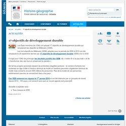 17 objectifs de développement durable-Histoire-géographie-Éduscol