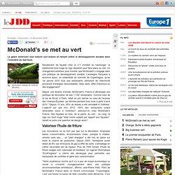 mcdonald's, écologie, développement durable, greenwashing