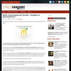 McDo et developpement durable : stratégie ou greenwashing ?