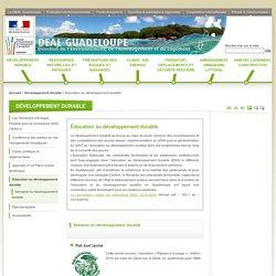 Éducation au développement durable - DEAL Guadeloupe