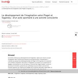 Le développement de l'imagination selon Piaget et… – Revue des sciences de l'éducation