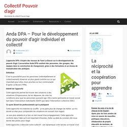 Anda DPA – Pour le développement du pouvoir d'agir individuel et collectif