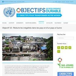 Objectif 10 : Réduire les inégalités dans les pays et d'un pays à l'autre - Développement durable
