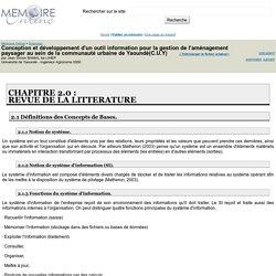 Conception et développement d'un outil information pour la gestion de l'aménagement paysager au sein de la communauté urbaine de Yaoundé(C.U.Y) - Jean Simon BAMAL ba LIHEP