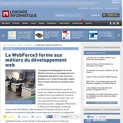 La WebForce3 forme aux métiers du développement web