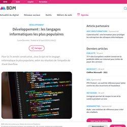 Développement : les langages informatiques les plus populaires