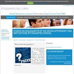Étudiants de l'UPJV - Fonds de Solidarité et de Développement des Initiatives Étudiantes (FSDIE)