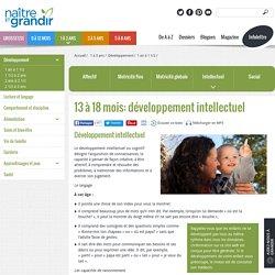 13 à 18 mois: développement intellectuel