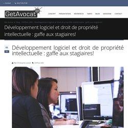 Développement logiciel et droit de propriété intellectuelle : gaffe aux stagiaires! - Get Avocat - solutions d'abonnement juridique partagé