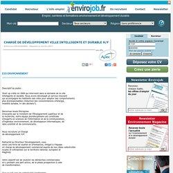 Chargé de développement ville intelligente et durable H/F - Envirojob.fr