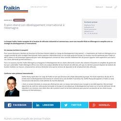 Fraikin étend son développement international à l'Allemagne