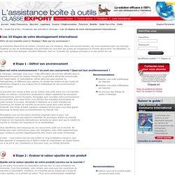 Assistance Classe Export - Les 10 étapes de votre développement international