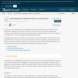 Le développement cognitif de l'enfant : une introduction