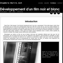 Le développement d'un film noir et blanc : Introduction - Chambre-Noire.net