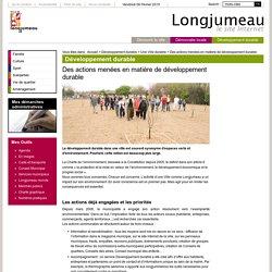 Des actions menées en matière de développement durable - Une Ville durable - Développement durable - Ville de Longjumeau