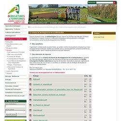 Le schéma de développement de la méthanisation - Chambre d'agriculture de Maine-et-Loire