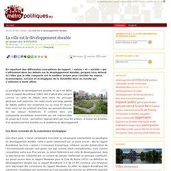 La ville est le développement durable