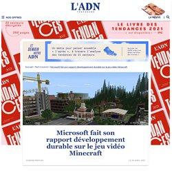 Le rapport développement durable de Microsoft sur Minecraft