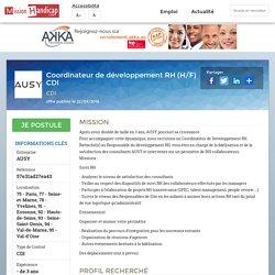 Coordinateur de développement RH (H/F) CDI - Offre d'emploi handicap - MissionHandicap.com