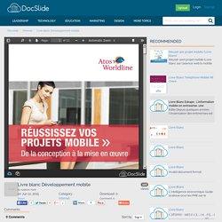 Livre blanc Développement mobile - Internet