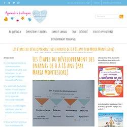Les étapes du développement des enfants de 0 à 18 ans (par Maria Montessori)