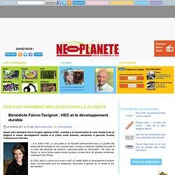 Bénédicte Faivre-Tavignot : HEC et le développement durable