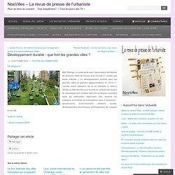 Le revue de presse de l'urbaniste