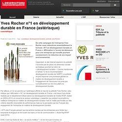Yves Rocher n°1 en développement durable