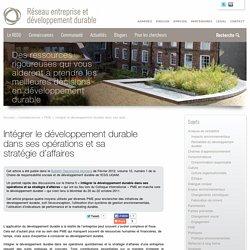Intégrer le développement durable dans ses opérations et sa stratégie d'affaires