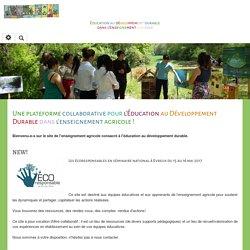 Éducation au Développement Durable : PagePrincipale