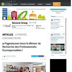 RSE et Développement Durable : SoLocal (ex PagesJaunes)