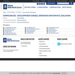 Commission C02 - Développement durable, démocratie participative, évaluation - Site internet de la région Nord Pas de Calais