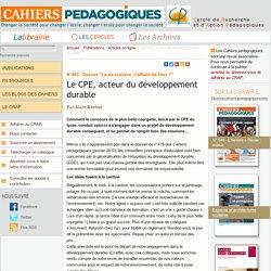 Le CPE, acteur du développement durable