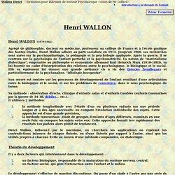 wallon henri developpement psychomoteur de l'enfant pedopsychiatrie psychiatrie et psychologie