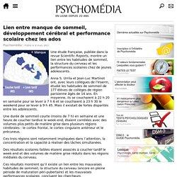 Lien entre manque de sommeil, développement cérébral et performance scolaire chez les ados