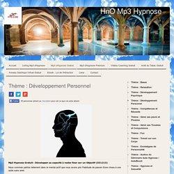 Thème : Développement Personnel - HnO Mp3 Hypnose