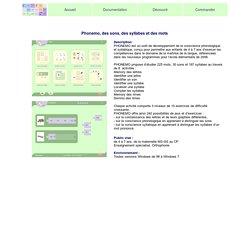 Phonemo, des sons, des syllabes et des mots, logiciel de développement de la conscience phonologique et syllabique