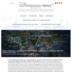 Disney annonce un plan de développement pluriannuel d'envergure pour Disneyland Paris