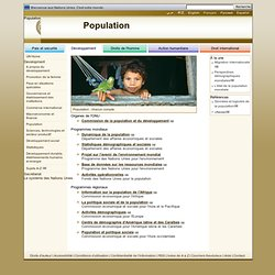 Nations Unies: Développement - Population