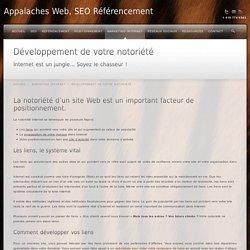 Développement Web; le développement de la notoriété de votre site Web est un important facteur de positionnement