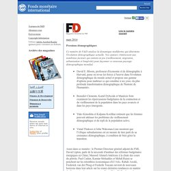 Finances & Développement numéros précédents