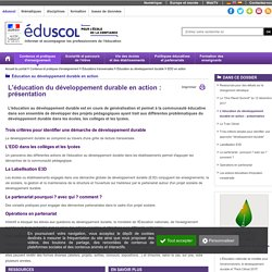Les differents types de projets - EduSCOL
