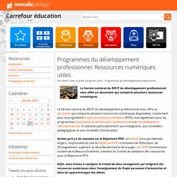 Programmes du développement professionnel: Ressources numériques utiles