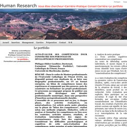 Human Research Le portfolio et le développement professionnel