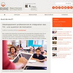 Développement professionnel et intégration des TIC : une question de motivation